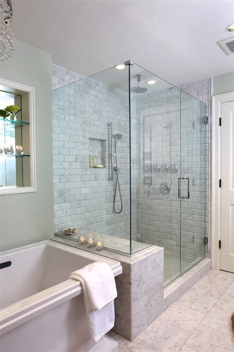 46 Amazing Bathrooms With Walk-In Showers That Will