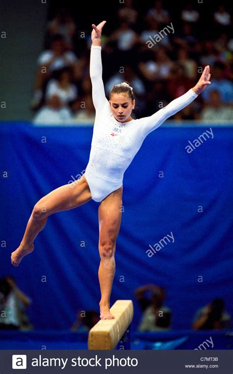 Dominique Moceanu (USA) competing at the 1998 Goodwill