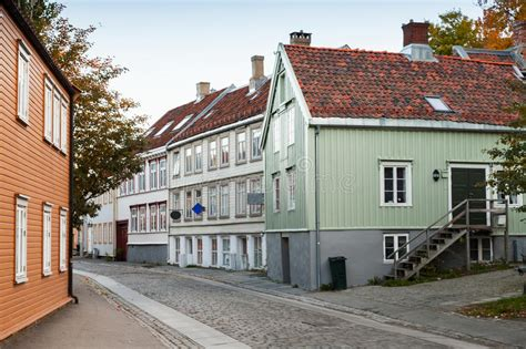 Traditional Scandinavian Old Wooden Houses Stock Photo