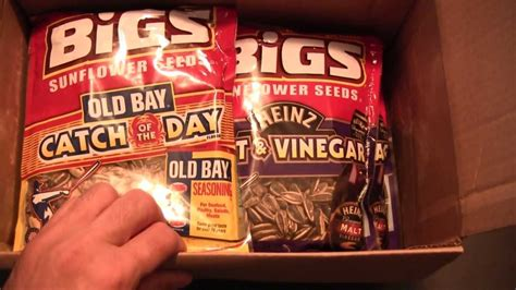 Snack Purchase: Big Ol' Box of BIGS Sunflower Seeds - YouTube