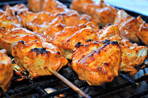 Yogurt Marinated Chicken Kebabs with Crushed Red Pepper
