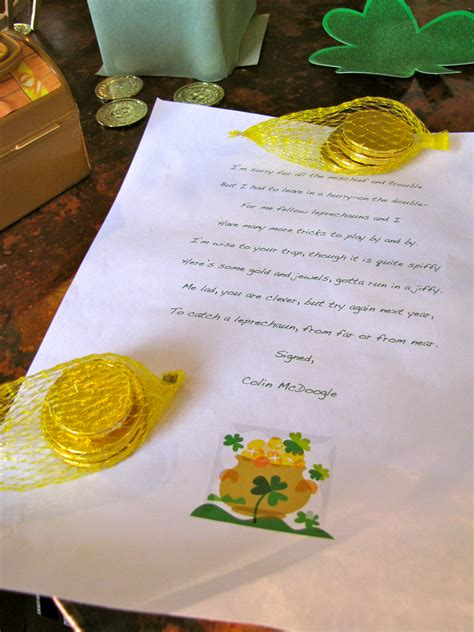 Leave a Letter From The Leprechauns | Creekside Learning