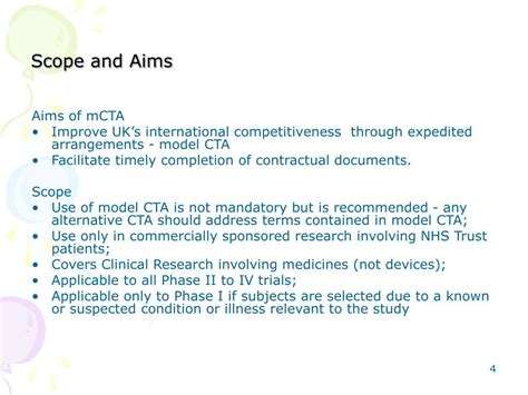 PPT - Model Clinical Trials Agreement as implemented by
