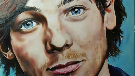Louis Tomlinson painting - YouTube