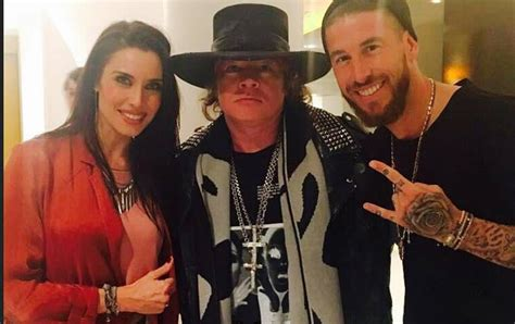 """Sergio Ramos:""""Got to meet one of the greats, thank you Axl"""
