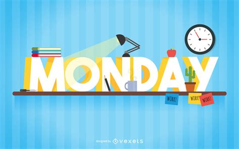 Monday study sign - Vector download