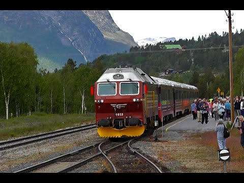 NSB Di4 on Northlands Railway in Norway - YouTube